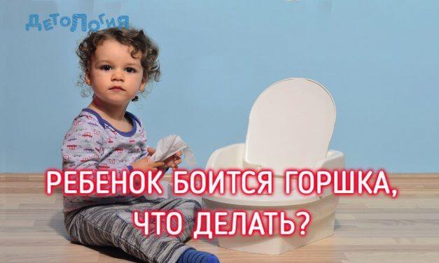 Ребенок боится горшка, что делать?
