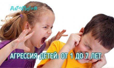 Детская агрессия: агрессия детей 1-7 лет